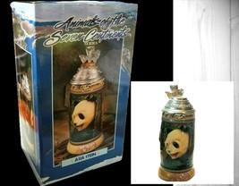 Budweiser Animals of Seven Continents Series  Asia Lidded Stein Panda Tiger  - $27.66