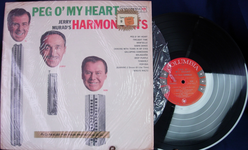 Jerry Murad's Harmonicats - Peg o' My Heart - Columbia Records CL-1637