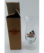 Hard Rock Cafe Hurricane Glass DALLAS, TX.  Logo w/ Red Circle In Box - $7.99
