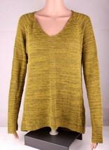 Eileen Fisher Damen Pullover V Ausschnitt Baby Alpakawolle Hi Low Grün GRÖSSE - $38.98