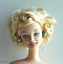 Nude Barbie Marilyn Monroe Seven Year Itch Platinum Blonde Dreamy Eyes Earrings - $24.73