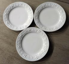 (3) Homer Laughlin Off White Embossed Grapes Fruit Theme Bread / Dessert  Plates - $14.20