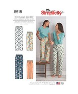 Simplicity Creative Patterns US8518A Sewing Pattern Sleepwear, A (S-L/X-Small-X- - $4.97