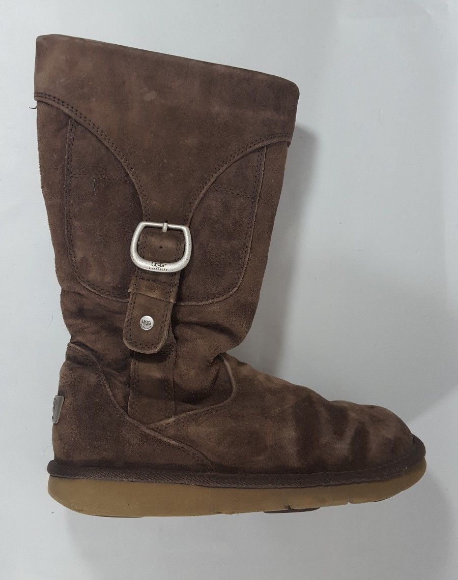 f211ca1b8978 Ugg boots buckle strap brown suede shearling and 50 similar items. S l1600