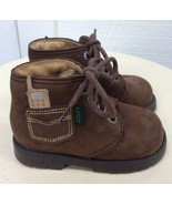 Baby Boys EURO HIKING BOOTS Brown Suede ANKLE Shoes 20 FRANCE 4.5-5 US A... - $43.47