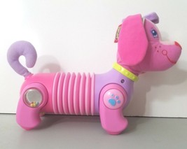 "Tiny Love Follow Me Fiona Puppy Accordion Developmental Toy Pink Dog 12"" - $17.45"