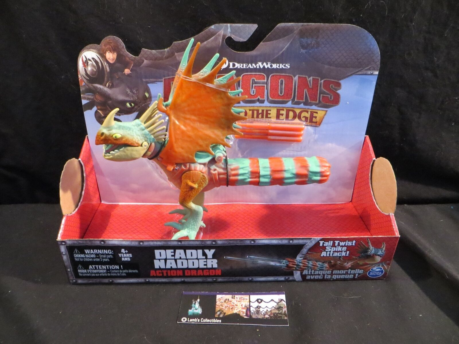 Primary image for Dreamworks Dragons Deadly Nadder Race to the Edge Red Turquoise Tail twist spike