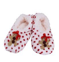 Women's 3 Pack Sherpa Lined Soft Christmas Holiday Reindeer Slippers Socks Shoes image 4