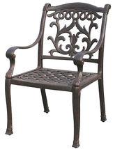 Fire Pit Propane Table 7 Piece Set Cast Aluminum Outdoor Patio Furniture   image 10