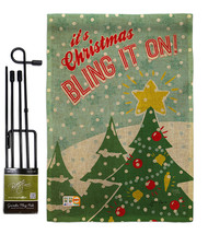Christmas Bling It On Burlap - Impressions Decorative Metal Garden Pole ... - $33.97