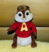 Alvin & Chipmunks Plush TY Beanie Baby ALVIN in Red Hoodie - $4.89