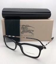 Nuovo Burberry Occhiali da Sole B 2243-Q 3001 51-17 140 Nero con Plaid Design