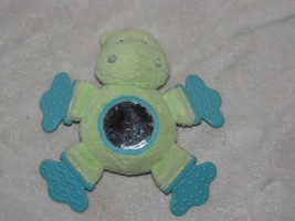 CHILD OF MINE STUFFED PLUSH GREEN HIPPO TOY BABY TEETHER TEETHING RATTLE... - $24.74