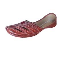 Women Shoes Indian Handmade Mojari Casual Leather Flip-Flops Flat US 5.5-7.5 - $39.99