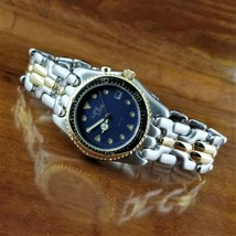 Vintage Mens LIFE Lite Gold & Silver SEL Y Link Bracelet Watch Glow in t... - $49.95