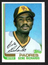 San Diego Padres Gene Richards 1982 Topps Baseball Card #708 nr mt - $0.50