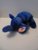 "TY ROYAL BLUE PEANUT BEANIE BUDDY ELEPHANT 1998 VERY RARE 17""  - $17.82"