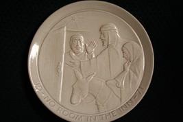 Vtg 1971 Frankoma Pottery No Room In The Inn Christmas Plate By John~Mint - $11.97