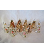 """10 Vintage West Germany Blown Glass Bell 2.5"""" Christmas Tree Ornaments -... - $19.99"""