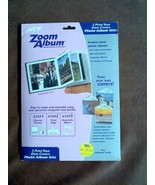 Zoom Album 3 x 3 Scrapbook Complete Photo Kit Pocket Sized Album - $15.51