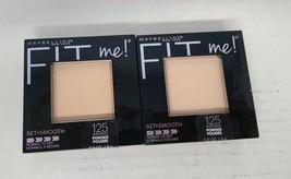 Set of 2: Maybelline Fit Me Set + Smooth Powder, Nude Beige 125 - $11.86