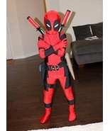 Halloween X-MAN Deadpool Costume For Kids Children Boys Full Bodysuit Jumpsuit - $29.98
