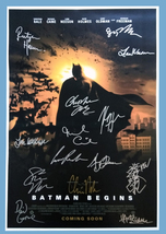 BATMAN BEGINS MOVIE Poster Signed by 14 cast with COA, AUTHENTIC, Excell... - $101.00