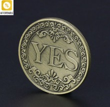 Commemorative Coin Collection Floral YES NO Letter Ornaments Art Gift So... - $7.32