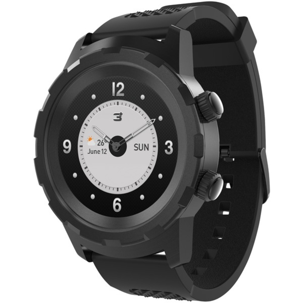 3Plus 3PL-HYBRID-BK Cruz Hybrid Watch