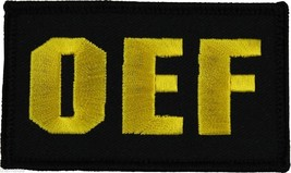 OEF OPERATION IRAQI FREEDOM BLACK 2 X 3  EMBROIDERED WITH HOOK LOOP - $15.33