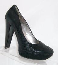 Calvin Klein 'Carley' black textured leather almond toe platform pump heel 6M - $14.89