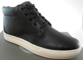 TIMBERLAND A1815 DAUSET CUP CHUKKA MEN'S BLACK TECTUFF LEATHER BOOTS - $76.49