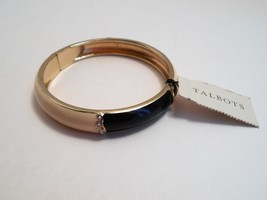 Talbots Navy & Ivory Enamel Rhinestone Bangle Bracelet New With Tags image 2
