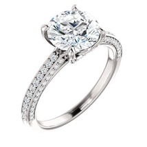 2.50 Carat F VS2 Natural Diamond Solitaire Halo Ring in PLATINUM - EGL USA - $18,500.00