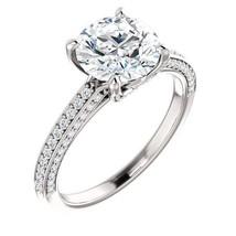 2.50 Carat F VS2 Natural Diamond Solitaire Halo Ring in PLATINUM - EGL USA - $18,500.00