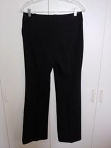 ANN TAYLOR LOFT LADIES BLACK POLYESTER/RAYON STRETCH DRESS PANTS-2-GENTL... - $21.99