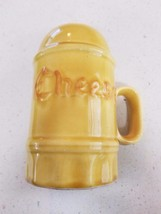 Vintage Los Angeles Potteries Cheese Shaker Yellow  - $19.99