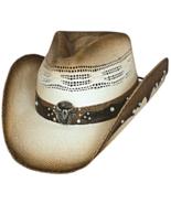 Bullhide Sun Is Shining Bangora Straw Cowboy Hat Studs Bullhead Concho N... - €48,92 EUR