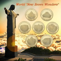 WR Seven Wonders Gold Plated Coin 7pcs World Wonders - $19.99
