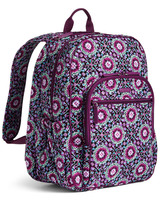 Vera Bradley Signature Cotton Campus Tech Backpack, Lilac Medallion image 5
