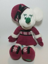 Disney Store Exclusive White 18in Minnie Mouse Plush Winter Fun Sweater ... - $23.71