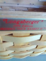 Longaberger Dresden Tour Basket II - 1999 Edition - Swing Handle w Protector image 2