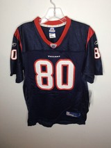 Reebok NFL Houston Texans 80 Andre Johnson Field Jersey Blue Youth Large... - $22.27