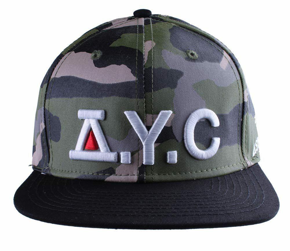 Asphalt Yacht Club Camo Green Black Hunt Snapback Baseball Hat AYC1410920 NWT
