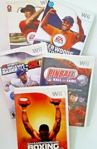 Wii Video Game Bundle of 5 games.  FIVE Sports and arcade games.  - $13.55