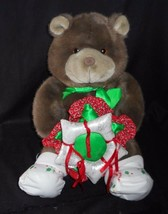 VINTAGE 1985 COMMONWEALTH LUSH PLUSH TEDDY BEAR CHRISTMAS STUFFED ANIMAL... - $23.38