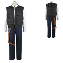 Star Wars A New Hope Han Solo Cosplay Costume Halloween Whole Set - $119.85
