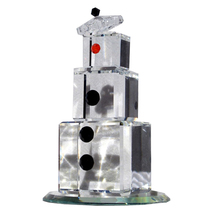 3 inch tall Clear Crystal Snowman - Noel image 2