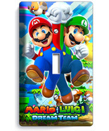 SUPER MARIO AND LUIGI BROS SINGLE LIGHT SWITCH ... - $7.99
