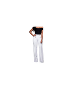 Women's Wide Leg Flared High Waisted Pants Trousers White Size M NEW - $10.88